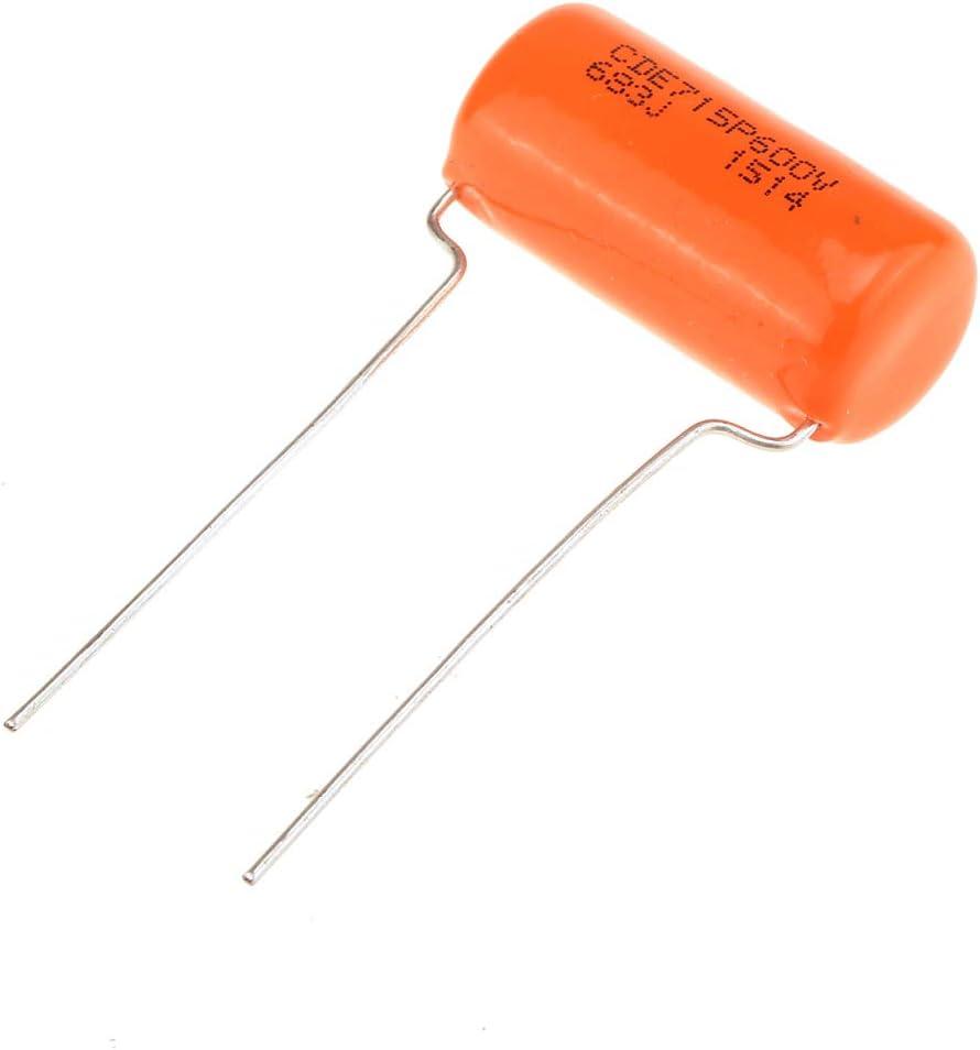 CDE Sprague Orange Drop Capacitors Tone Caps Polypropylene .015uF 715P 153J 200V for Guitar or Bass Set of 2