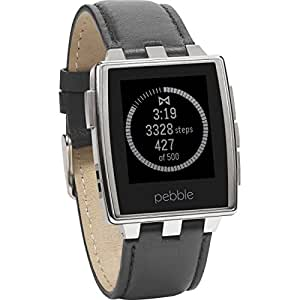 "Pebble Steel 22mm - Smartwatch (Bluetooth, ARM Cortex-M3, pantalla 1.26""), color plateado"