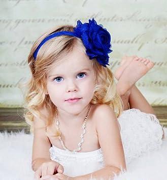 Amazon.com   Dark Royal Blue Rose Headband 634806d1b91