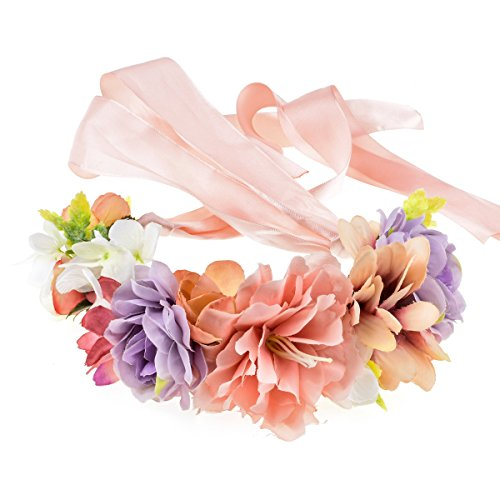 Love Sweety Rose Flower Headband Floral Crown Garland Halo