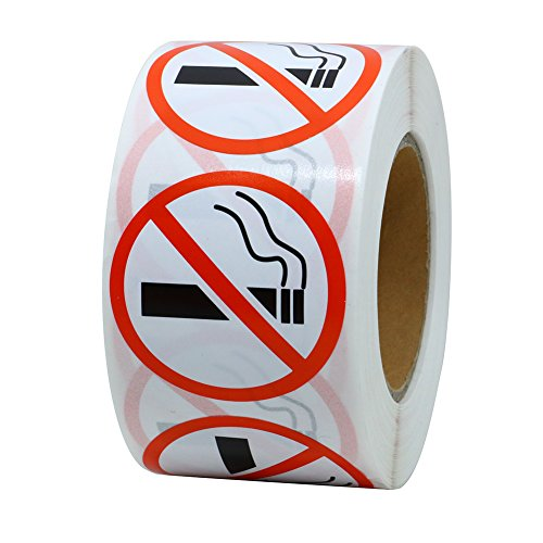 No Smoking Logo - Hybsk No Smoking Logo Warning Stickers 1.5