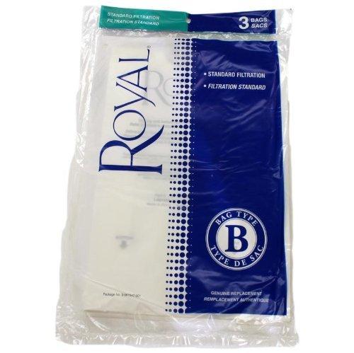 - Royal / Dirt Devil Type B Later Metal Upright Standard Filtration Vacuum Bags 3 PK OEM 3067247001