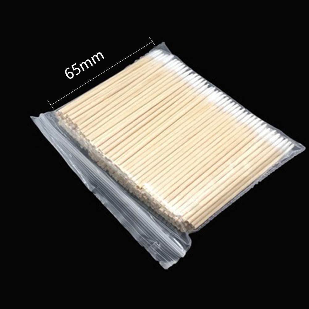 300 unidades de puntas de bastoncillo de algod/ón de una sola punta para la salud de la curaci/ón m/édica herramienta cosm/ética para manicura Hisopos de algod/ón