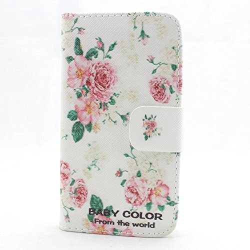 piaopiao fashion PU leather wallet credit card flip skin Case cover for samsung galaxy note 1 n7000 i9220 i717 (rose)