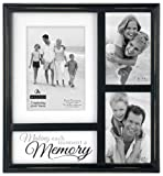 Malden International Designs Memory Collage 3-Opening Picture Frame, Holds 4 by 6-Inch, 5