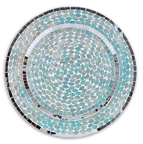- Florance jones Wholesale 13 Ocean Mosaic Tiles Art Glass Charger Plates, Blue, Set of 4, Aqua Beach Dining Table Tabletop Home Decor, ding Supplies, 13, Teal   Model WDDNG - 3427   13