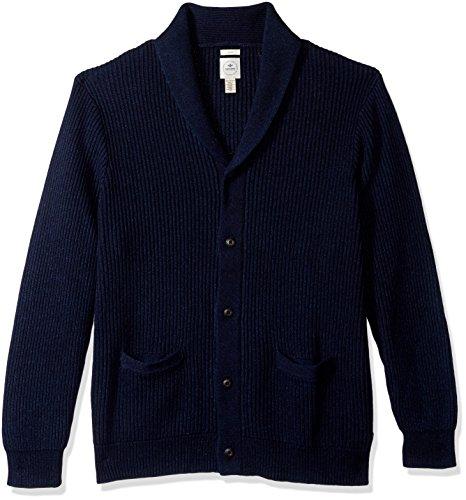 [해외]남자의 긴 소매 단추 앞 어깨 숄 칼라 가디건/Dockers Men`s Long Sleeve Button Front Shawl Collar Cardigan
