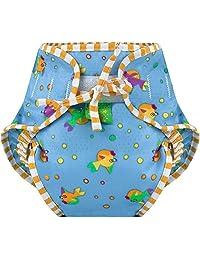 Kushies Baby Unisex Swim Diaper - Small,Goldfish Print,Small,