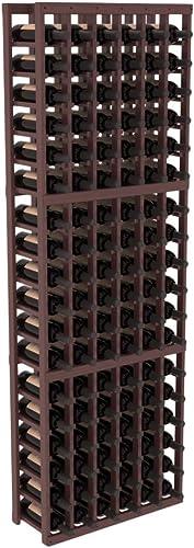 Wine Racks America Grand Mahogany 6 Column Wine Cellar Kit. Walnut Stain Satin Finish