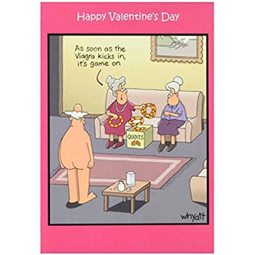 NobleWorks 2004 Game On VD Funny Valentine's Day Unique Greeting Card, 5 x 7 Sales