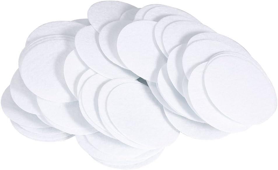 Broco Filtros de algodón, Almohadillas de filtrado Redondas Blancas Filtros de Limpieza Facial ecológicos para máquina de Belleza Que Elimina espinillas(50mm)