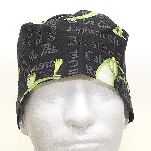Men's Scrub Hat Cap, Handmade in USA, Yoga ()