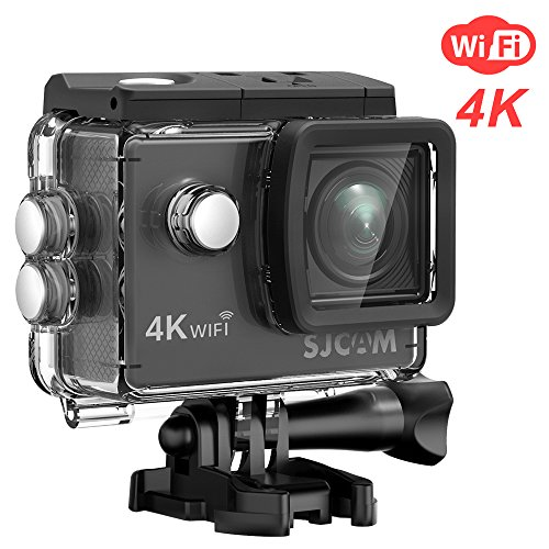 4K Sports Action Camera, SJCAM SJ4000 WiFi Air 4K@30FPS 16MP Waterproof Underwater Camera- 2.0 LCD Screen/170°Wide Angel/30M Waterproof with Case and Accessory Included- Black