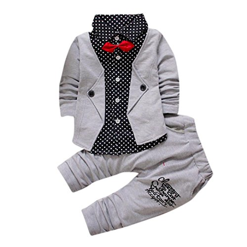 Hot Sale!!Woaills 1-4T Kid Baby Boy Formal Party Christening Wedding Tuxedo Bow Suit Gentry Clothes (24M, (Halloween Sale)
