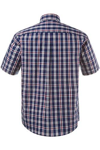 JP 1880 Homme Grandes tailles Chemise manches courtes à carreaux bleu marine 3XL 706572 70-3XL
