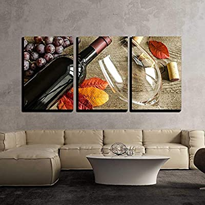 Original Creation, Incredible Composition, Red Wine x3 Panels