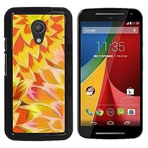 Be Good Phone Accessory // Dura Cáscara cubierta Protectora Caso Carcasa Funda de Protección para Motorola MOTO G 2ND GEN II // Sun Yellow Orange Pattern