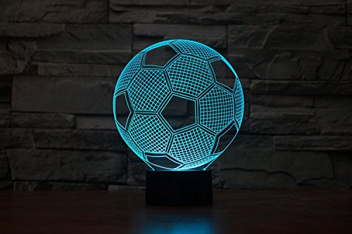 3D Glow LED Night Light Sport Element 7 Colors Optical Illusion Lamp Touch Sensor Perfect for Home Party Festival Decor Great Gift Idea (Party Decor Ideas)