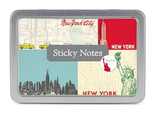 - Cavallini Papers Sticky Notes, New York, Set of 5