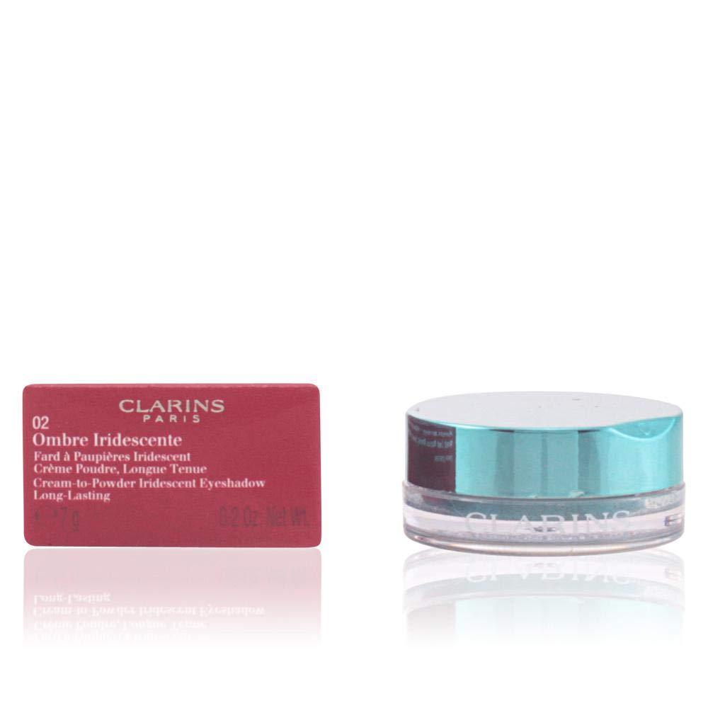 Clarins Ombre Iridescente Cream To Powder Iridescent Eyeshadow, No. 04 Silver Ivory, 0.2 Ounce