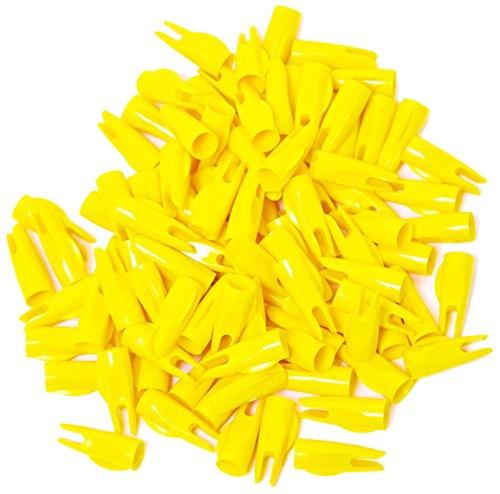 Bohning Classic Nock (100 Count), Yellow, 11/32-Inch