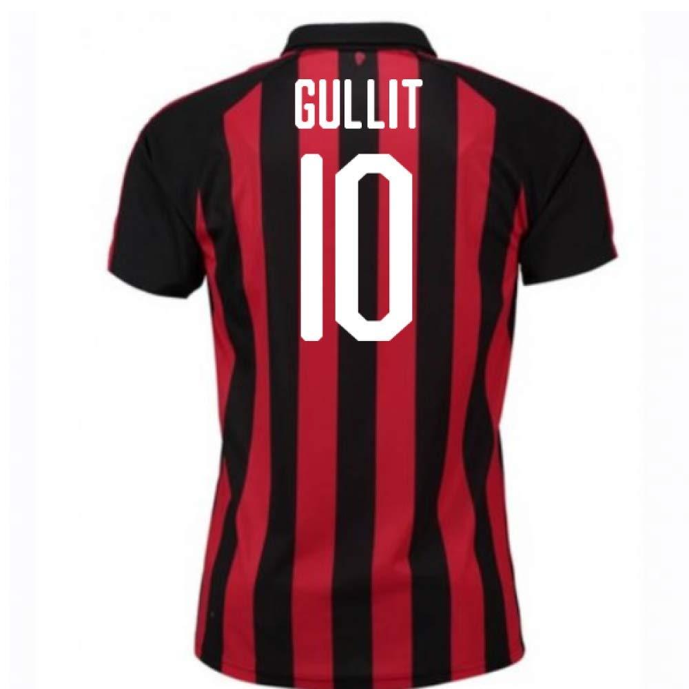 2018-2019 AC Milan Puma Home Football Soccer T-Shirt Trikot (Ruud Gullit 10)