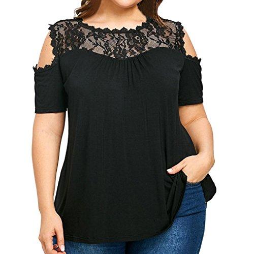 Plus O Casual Da Shirt Collo Moda Grossa Donne Maglietta Size Cerniera Taglia Nero T Camicetta Abbigliamento Donna Shirt Tops Oyedens Pizzo B6PfTwqx