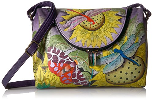 Anuschka Anna Hand Painted Leather Women'S Medium Crossbody,tpd-tuscan paradise,One (Hand Painted Leather Bags)