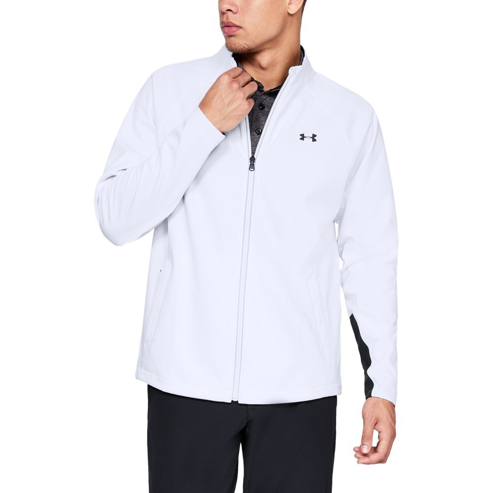 Under Armour Men's Storm Elements Full Zip, White, Small
