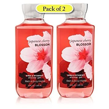 Bath Body Works Shea Enriched Shower Gel, Japanese Cherry Blossom, 10 oz Pack of 2