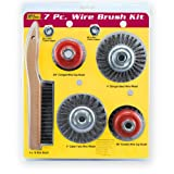 IVY Classic 39084 7-Piece Professional Wire Brush and Wheel Set, Carded