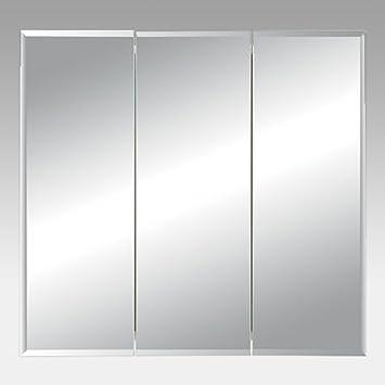 jensen medicine cabinet horizon triple door 30w x 2825h in recessed medicine cabinet