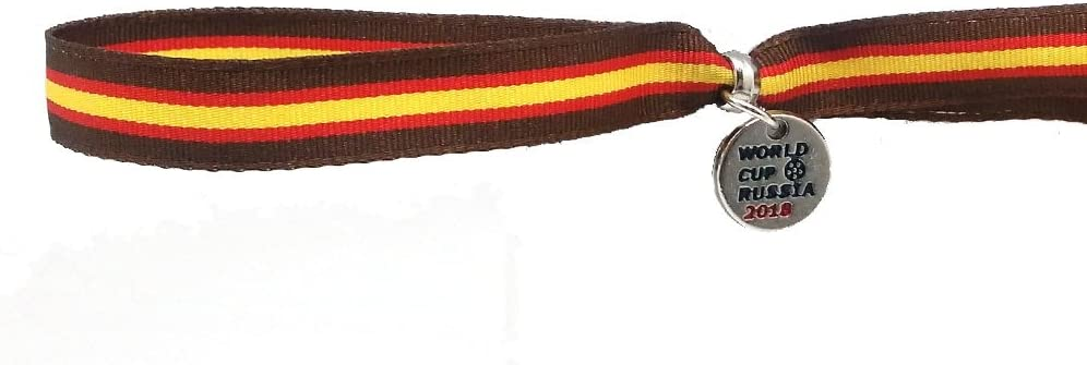 Hispania Colors Pulsera de Bandera de España (Marrón), de Tela ...