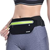 Sporting Goods : UShake Running Belt, Ultra Light Bounce Free Waist Pouch Fitness Workout Belt Sport Waist Pack Exercise Waist Bag for Apple iPhone 8 X 7 6+ 5s Samsung in Running Gym Marathon Cycling Sports (Black)