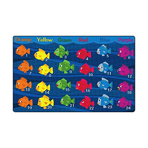 Sprogs School of Fish Rug, 7' 6'' W x 12' L, SPG-FE622-44A-SO by Sprogs