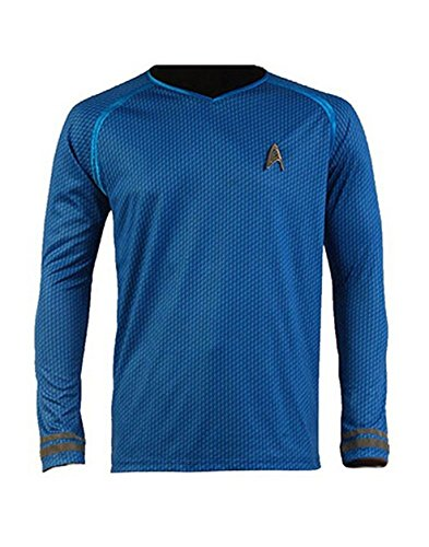 Cosparts Star Trek Into Darkness Spock Blue Man's T-shirt (US Size M)
