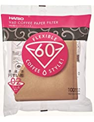 Hario V60 Paper Coffee Filters, Size 02, 100 Count, Natural