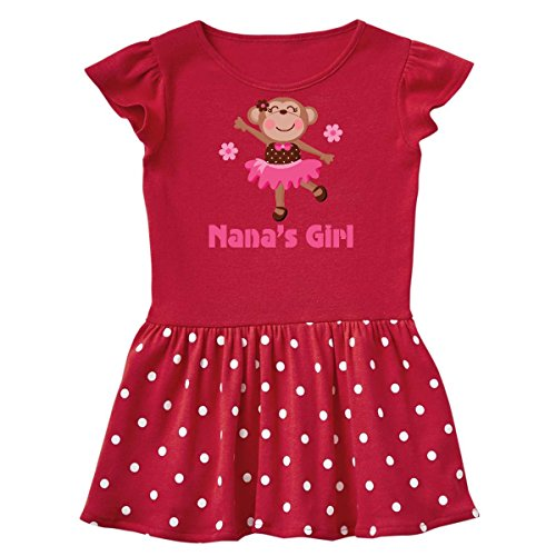 inktastic - Nana's Girl Monkey Infant Dress 24 Months Red and Polka Dot 1aca0