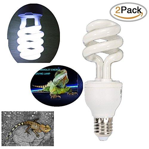 sxbest 2 Pack Sunblast 5.0,10.0 UV Reptile Compact Fluorescent Desert Bulb Terrarium Lamp (13 Watts) (Repti Glo 5.0 Compact)