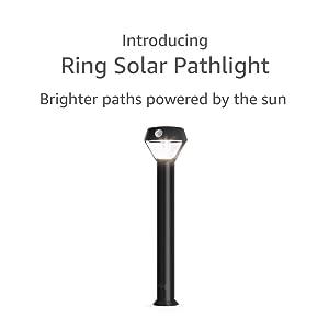 Introducing Ring Solar Pathlight – Outdoor Motion-Sensor Security Light, Black (Ring Bridge required)