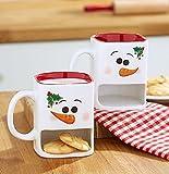 Winter Snowman Cookie Mug Set of 2 Snowman Christmas Gift Coffee Hot Chocolate Hot Cider Egg Nog