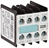 Siemens 3RH19 11-1GA13 Control Relay, Size S00, Snap On Auxiliary Switch Blocks, Screw Connection, 53 E Identification Number, 1 NO + 3 NC Contacts