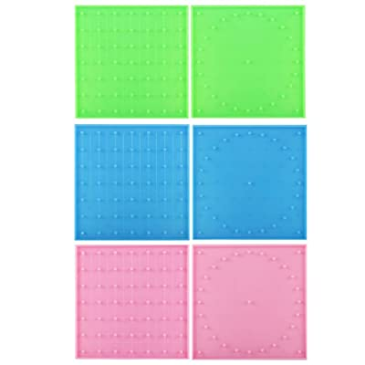 shengyuze Geoboard Toy Learning Toys Double Sided Peg Geoboard Rubber Tie Graphics Learning Kids Educational Toy( 3Pcs Boards ): Toys & Games