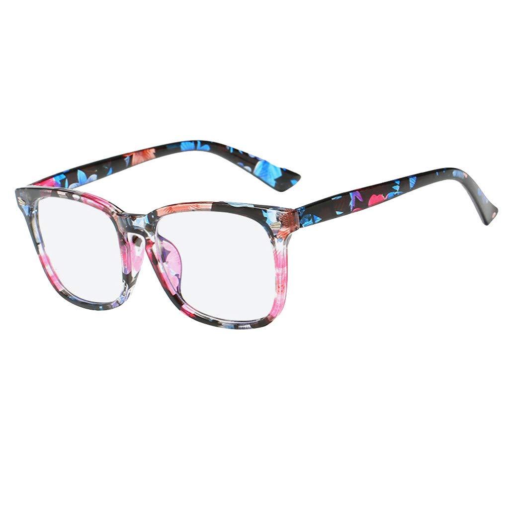 Fxbar,Hot Sale Blue Light Blocking Glasses Square Nerd Eyeglasses Anti Eyestrain Computer Glasses (G)