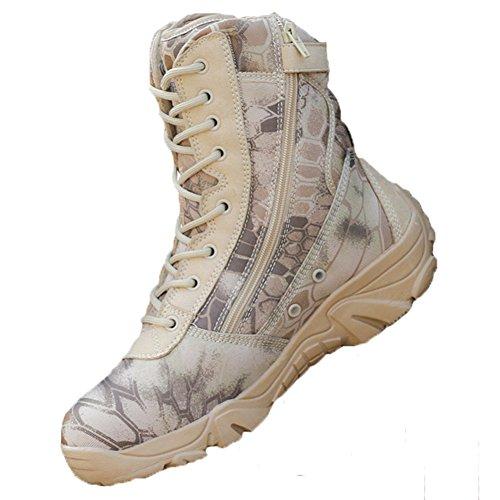 Være Dreamer Taktiske Støvler Mens 8 Inches Glidelås Bekjempe Spesielle Felt Støvler Sand