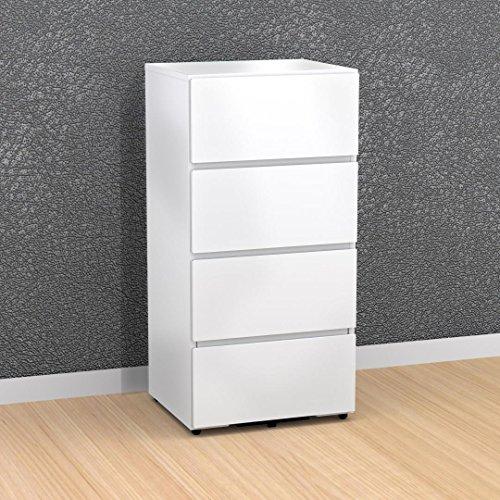 Nexera 3-Drawer Filing Cabinet 220303, White by Nexera