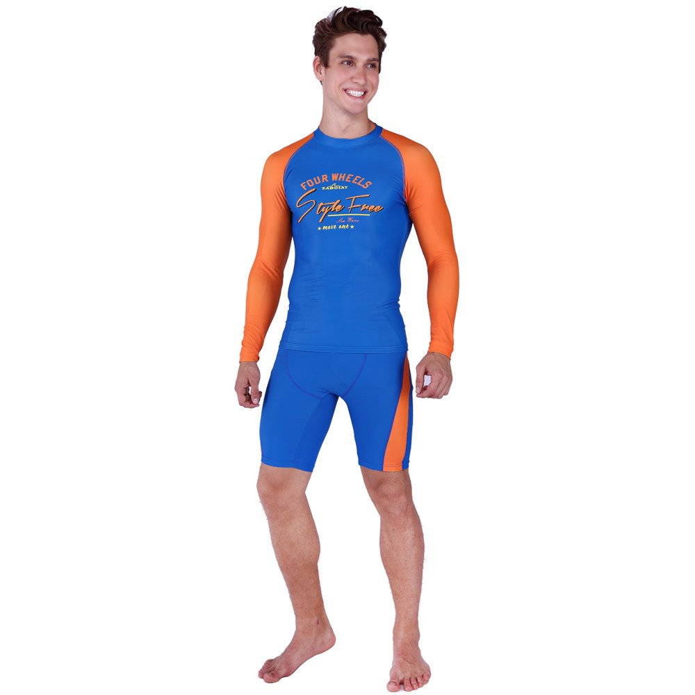LybCvad surf Swimwear Couple Models Swimsuit Long-Sleeved Sunscreen Diving Suit Surfing Beachwear