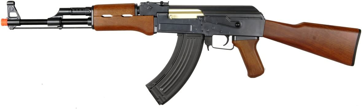 Double Eagle AK-47 AEG Semi Full Auto Electric Airsoft Rifle Gun High Capacity Magazine FPS 300