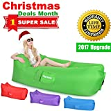 Great Home Inflatable Hammock Lounger Holds Air Better Than Others Air Chair Couch Lounger Sofa Lazy Hangout Couch Bag Gift Ideas Lightweight Beach Couch Foldable Camping Sofa