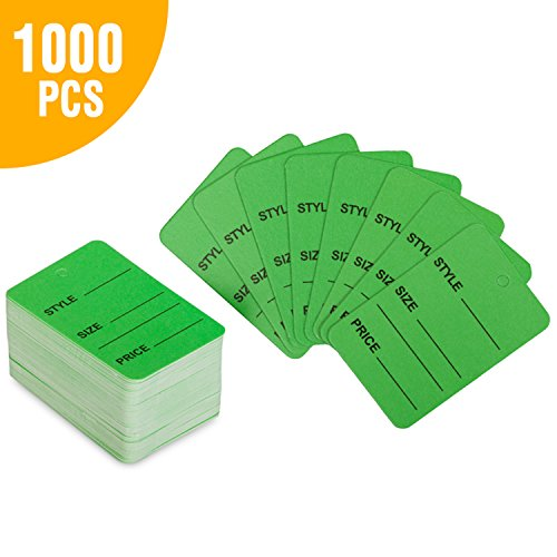 """GreenPrice Tags 1.25"""" x 1.875"""" Coupon Tags Merchandise Marking Tags Paper Price Clothing Tag Labels Box of 1000 Merchandise Tags Clothing Display Tag"""